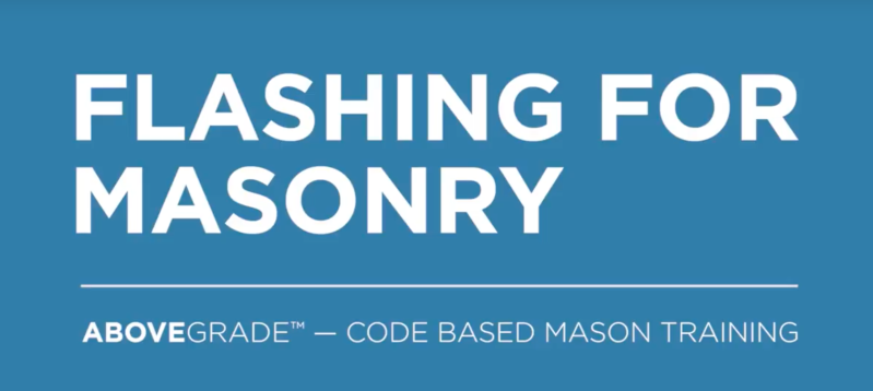 Flashing for Masonry